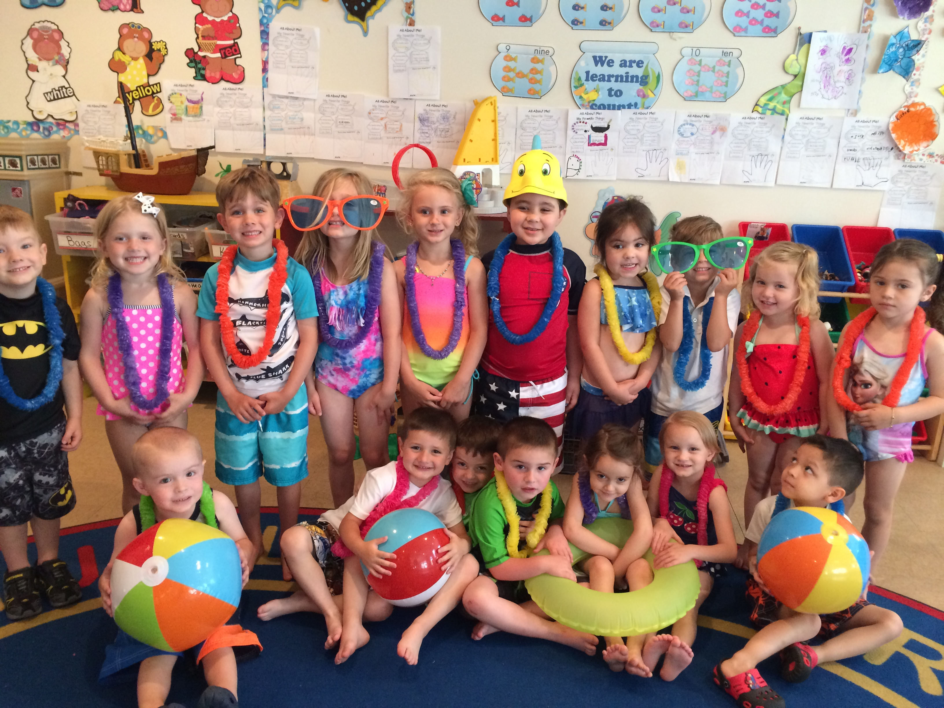 Beach Party Day During Our End Of The School Year Celebrations